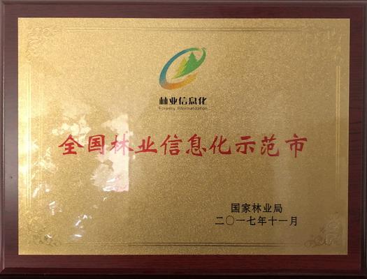 """我局荣获""""全国林业信息化示范市""""称号"""